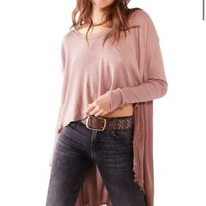 NWT Free People TT Special Top, M, Choco Latte